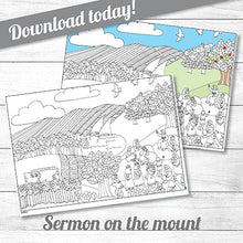 Sermon on the mount<p>colouring poster