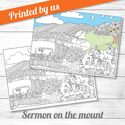 Sermon on the mount <p>colouring poster