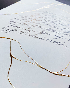 Kintsugi Calligraphy Artwork