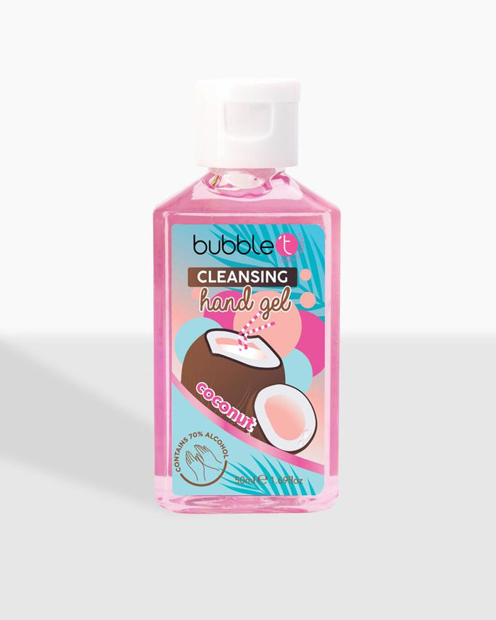 Coconut Anti-Bacterial Cleansing Hand Gel (70% Alcohol) - Bubble T Cosmetics Trade