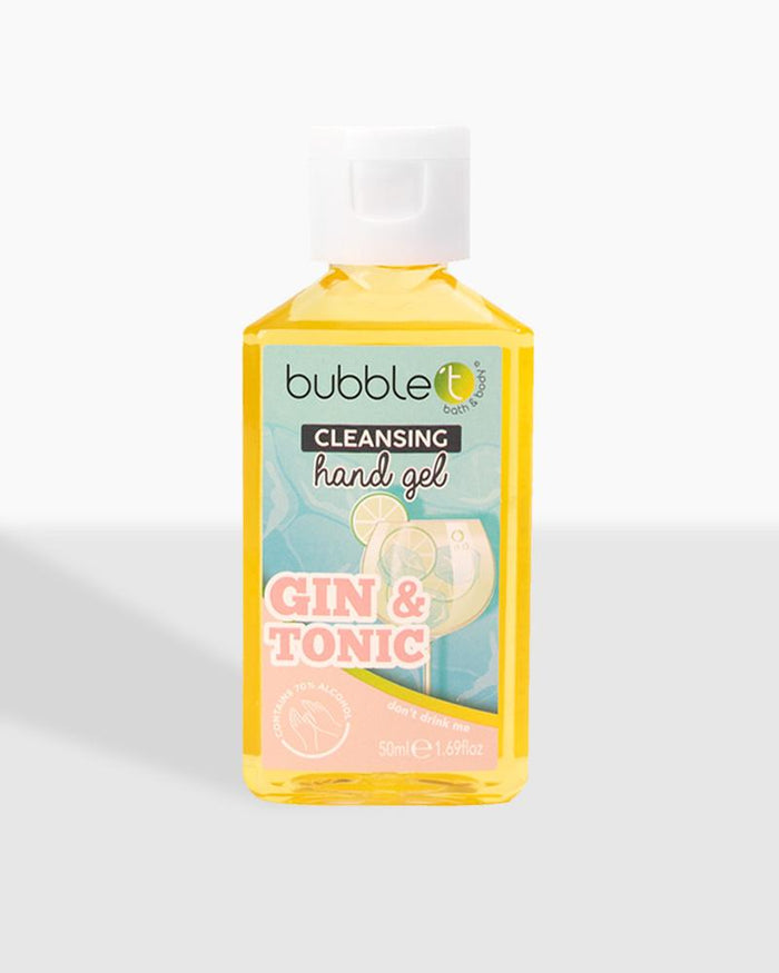 bubble t cosmetics anti-bacterial cleansing hand sanitiser gin and tonic