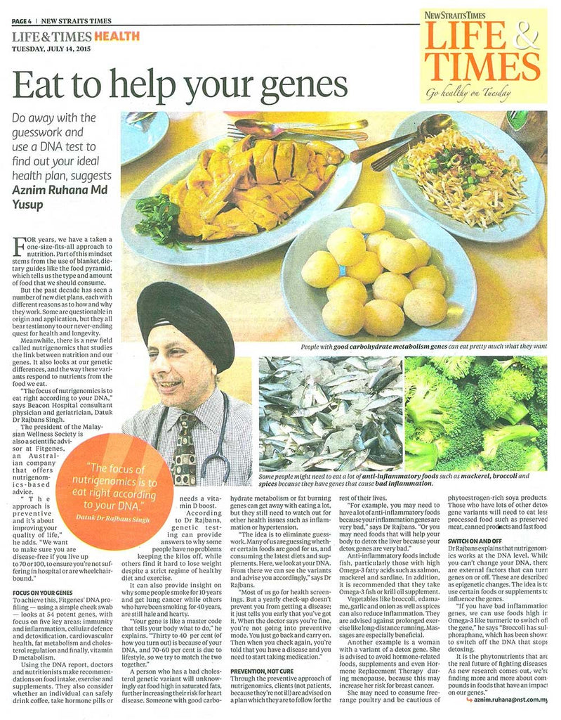 Eat to help your genes