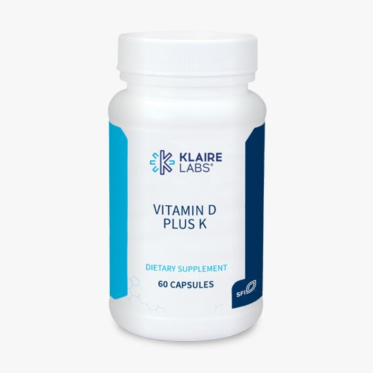 Klaire Lab Vitamin D Plus K - 60 capsules