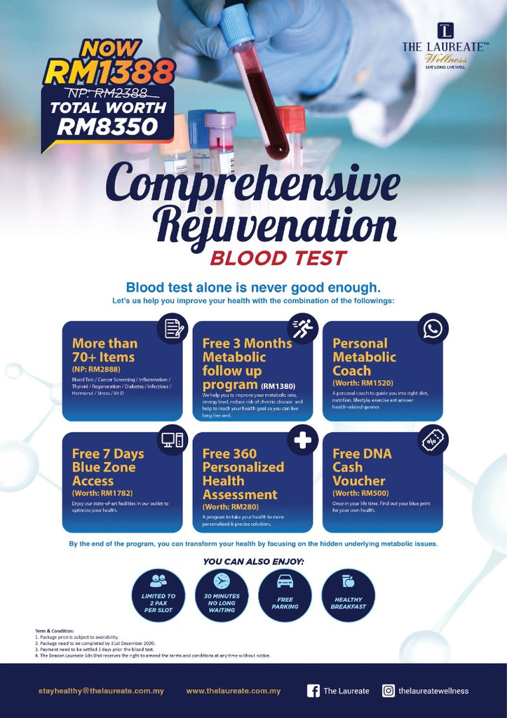 Comprehensive Rejuvenate Blood Test