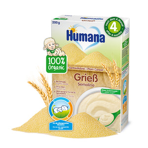 Cereale Humana ECO, Gris Fara Lapte, 200 G, 4 Luni+ - Antique Lovers