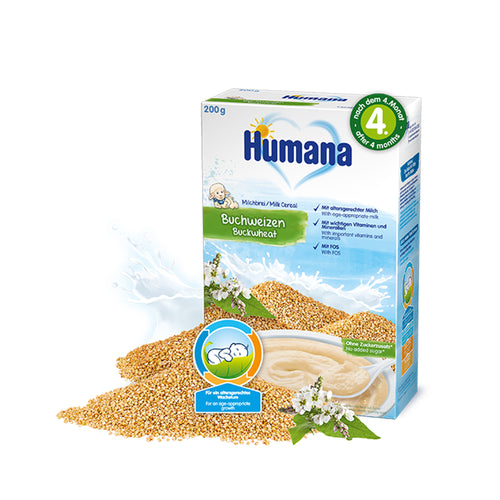 Cereale Humana Cu Lapte Si Hrisca, 200g, 4 Luni+ - Antique Lovers
