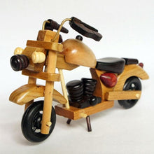 Antique Wood Motorcycle 15x5x9cm - Antique Lovers