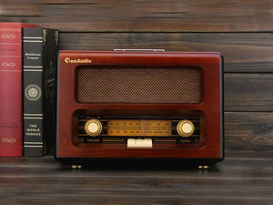 Antique Wooden Desktop Radio MP3 /SD/USB /AUX built-in stereo speakers - Antique Lovers