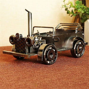 Vintage Diecast Metal Classic Cars Home Decoration - Antique Lovers