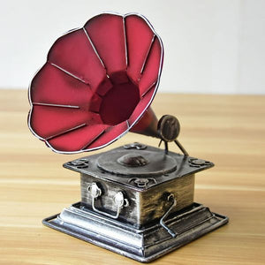 Antique Iron Phonograph Decoration - Antique Lovers
