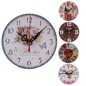 Vintage Style Wood Wall Clock - Antique Lovers