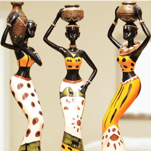 3pcs/set African Girls - Antique Lovers