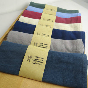 Good water absorption Plain color linen napkin Tea towels - Antique Lovers