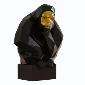 Abstract Gorilla Figurines - Antique Lovers