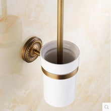 Antique Gold Brass Toilet Brush - Antique Lovers