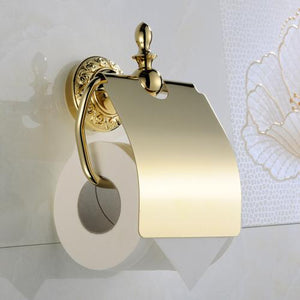 Vintage Brass Polished  Bathroom Accessories - Antique Lovers