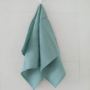 100% LINEN  TOWEL Antibacterial Antibacterial and Moisture Absorbing and Quick Drying Soft Breathable Green Fashion 9 cloors - Antique Lovers