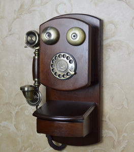 Antique Wall Mounted Rotary Dial Telephone Decoration - Antique Lovers