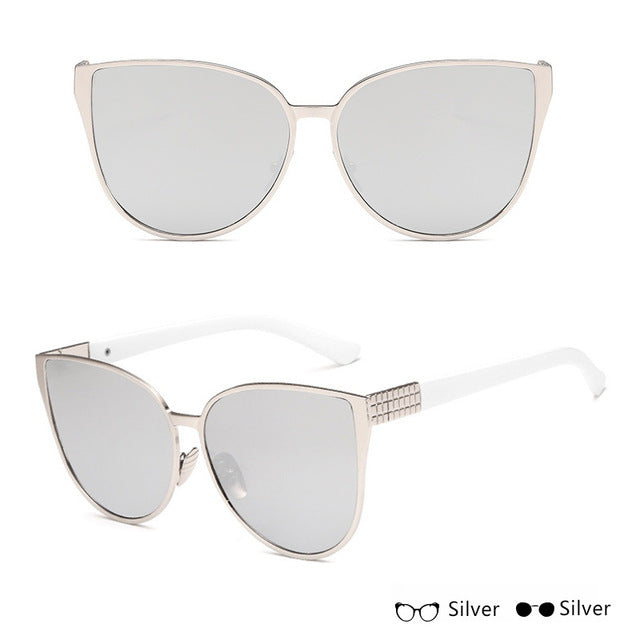 Oversized Silver-Silver sunglasses - Simple Style Guru