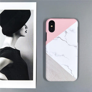 Pink Geometric Splice iPhone phone case - Simple Style Guru