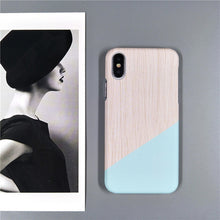 Load image into Gallery viewer, Blue Geometric Splice iPhone - Simple Style Guru