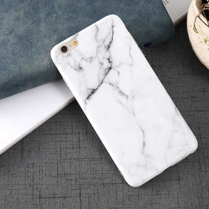 White Marble iPhone Case - Simple Style Guru