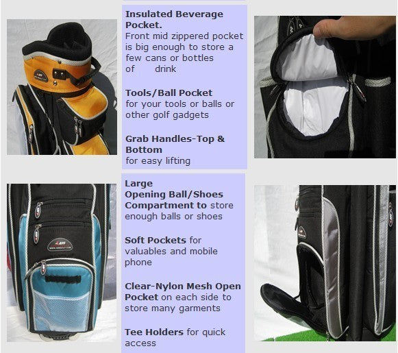 a99 golf A08 14way full length divider top deluxe golf cart bag