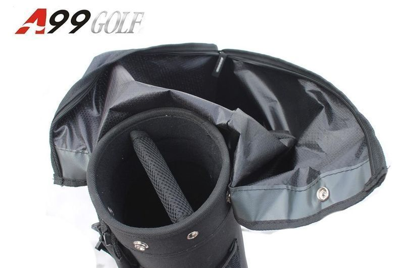 a99 golf C10 range bag solid blk removable top no stand