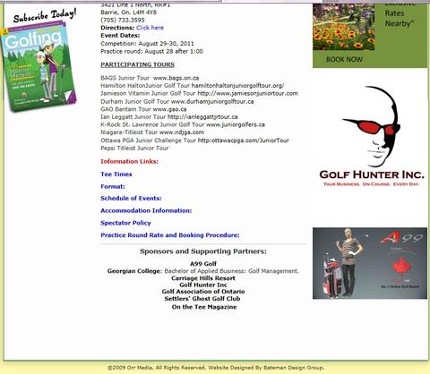 a99 pride to be parnter of BAGS magazine and The Bags Junior Tour