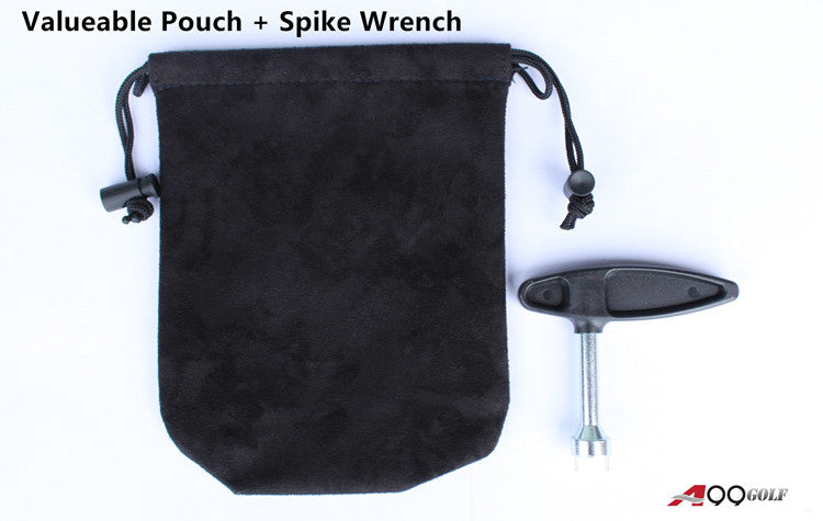 A99 Golf Shoes Replacement Spike Wrench Remover Tool + Black Valuable Pouch
