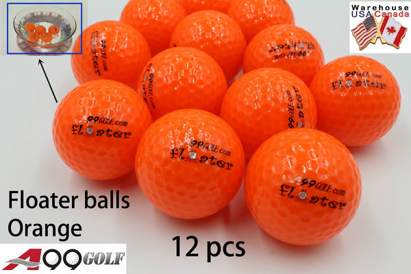 12pcs/pack A99 Golf Floater Balls Orange