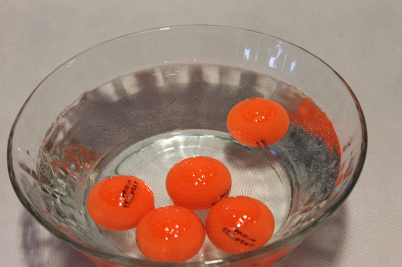 12pcs/pack A99 Golf Floater Balls Floating Float Water Range Ball Orange