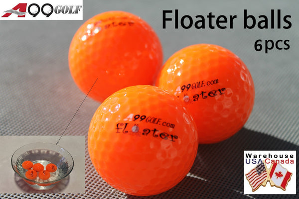 6pcs/pack A99 Golf Floater Balls Floating Float Water Range Ball Orange