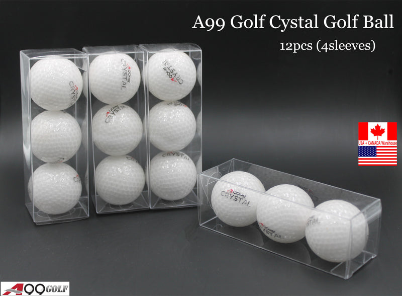 A99 Golf Crystal Balls 12 pcs White for Christmas Gift