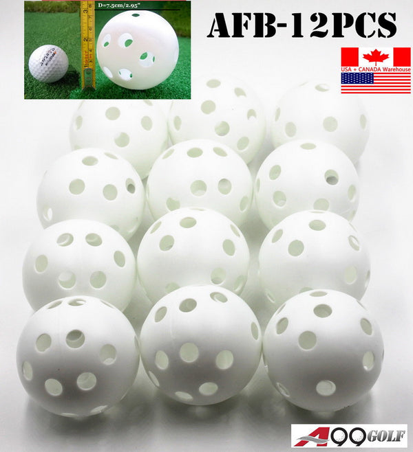 A99 JABF-12 pcs Air Flow white Training Balls Baseball Softball
