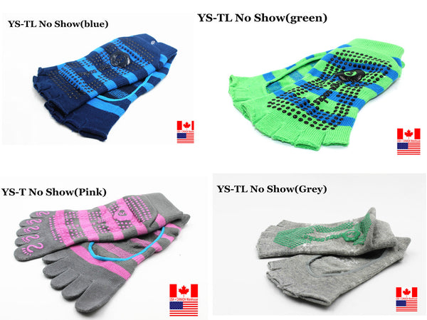 No Show Socks Yoga Pilates Sock GRIPS 1/2 TOE