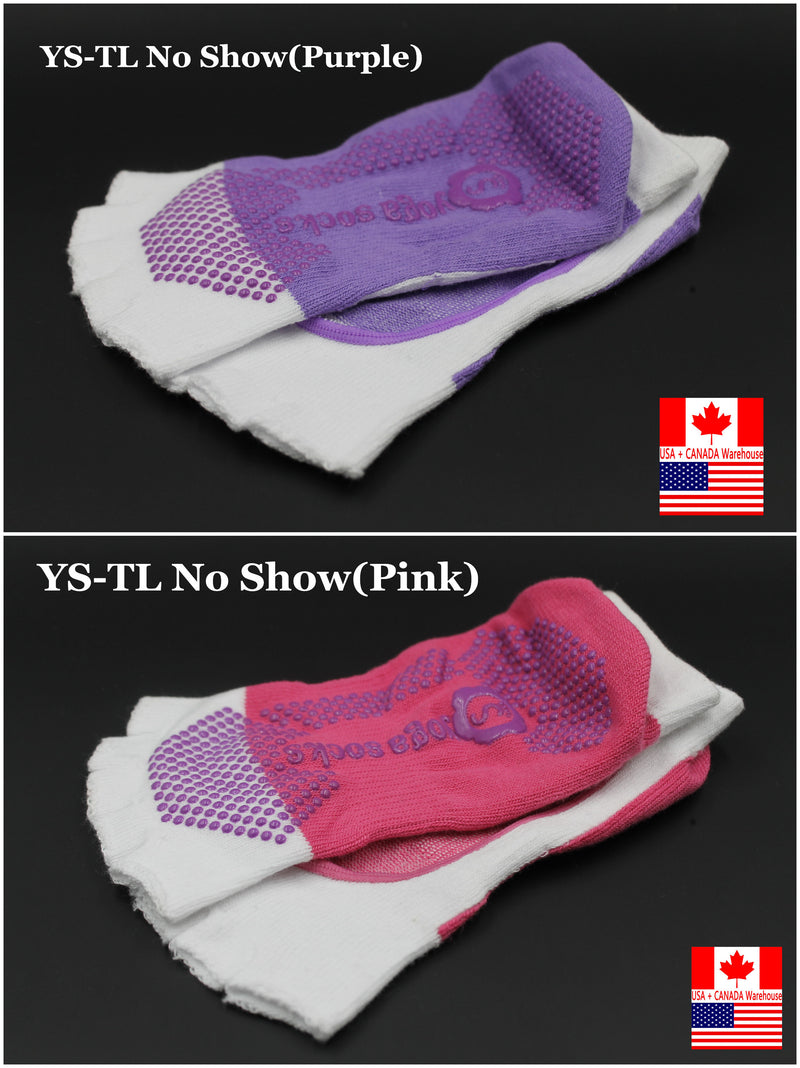 No Show Socks Yoga Pilates Sock GRIPS 1/2 TOE 1 pair