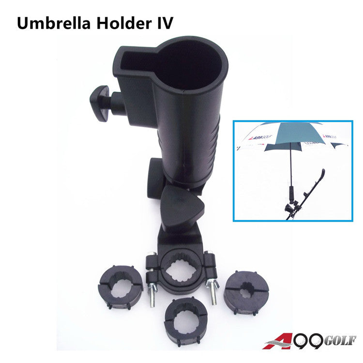 A99 Golf Universal Umbrella Holder IV Adjustable Size Angle Stroller Attachment with Clamp, Durable Universal Accessories for Golf Cart Bike Stroller Fishing Beach Chair Wheelchair