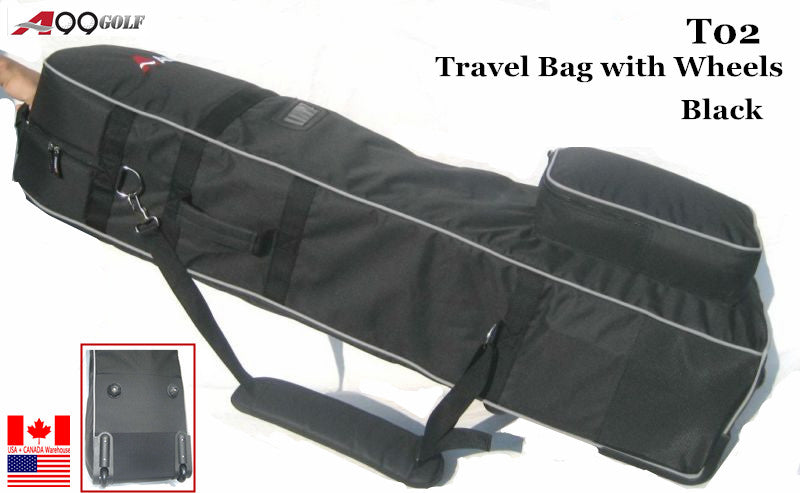 T02 Golf Travel Cover Black with Wheel