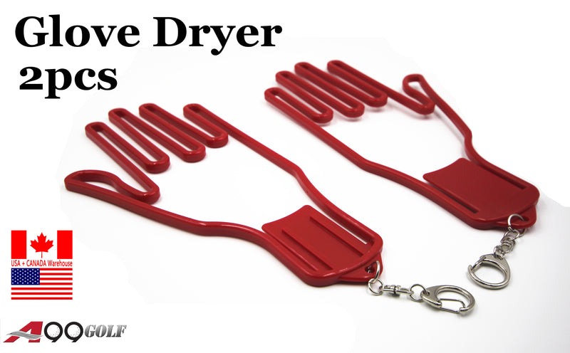 Glove Dryer Left and Right Hand Stretcher red 2pcs with chain