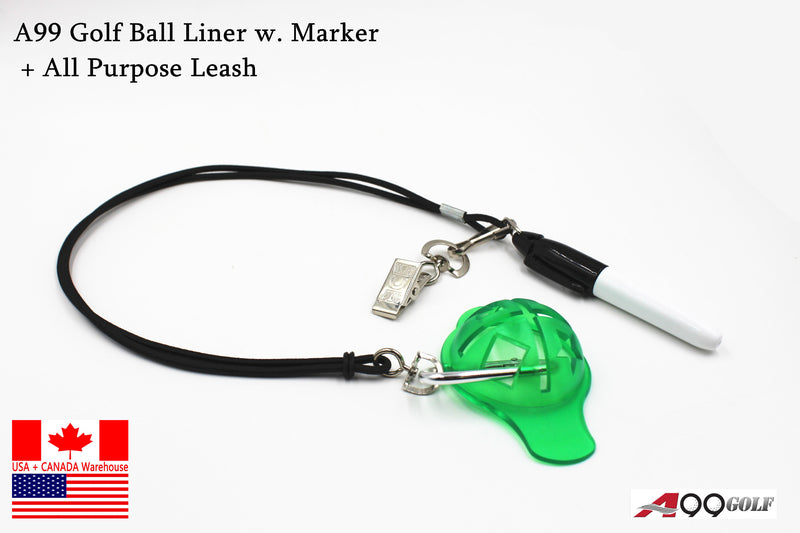 A99 Golf Ball Liner w. Marker + All Purpose Leash 1