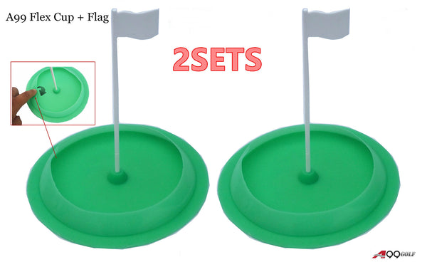 2sets A99 Golf Flex Cup Flagpole