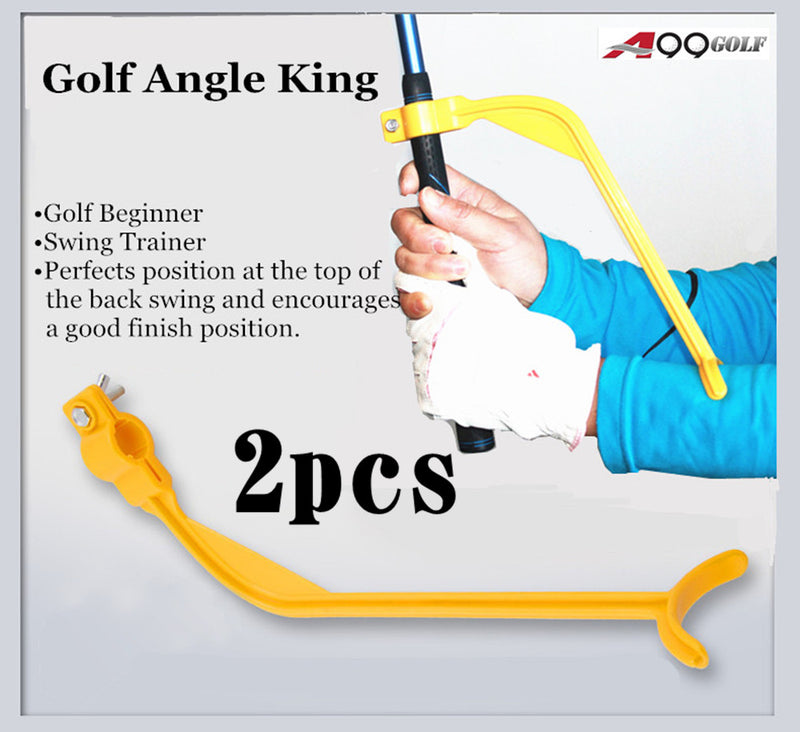 2pcs A99 Golf Angle King Wrist Swing Trainer Guide for Improving Distiance and Accuracy, Swing Plane, Clubface Alignment