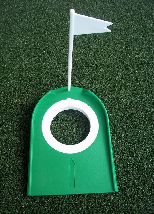 A99Golf 2-Hole Putting Cup Pragmatic Plastic Golf Putting Cup Practice Aids with Adjustable Hole White Flag for Golf Training