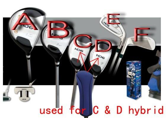 A99 Golf 10pcs H09 Iron head cover + 2pcs h10 hybrid head cover