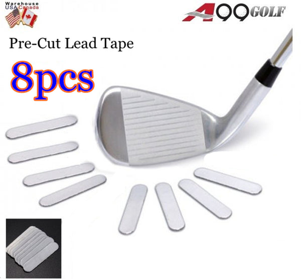 A99 Golf Pre-Cut Lead Tape weighted Weight on Golf/ Tennis Racket Iron Putter 8pcs