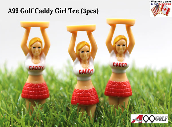 A99 Golf Pack of 3 Novelty Caddy Girl Golf Tees Gift Tee Cheerleader Tee Birthday Gift