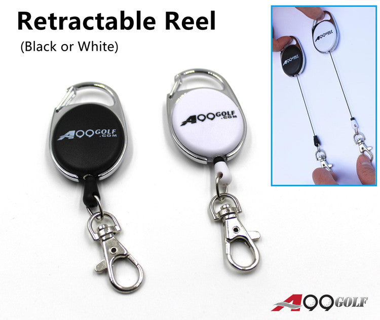 A99 Golf Retractable Reel White or Black