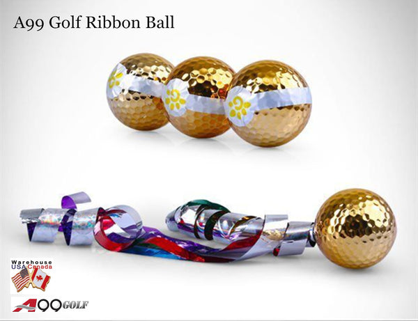 6pcs x A99 Golf Ribbon Ball Jetstreamer Gift Set Ball for Golf Conpetitions and Sports Activities