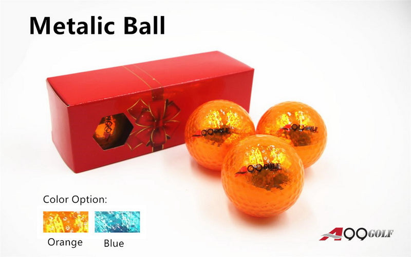 3pcs A99 Golf Metalic Ball with Gift Box